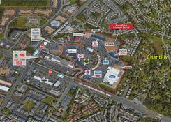 Sully Place Shopping Center: Bird's eye view of property.